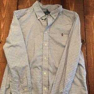 Boys long sleeve polo shirt size 14/16